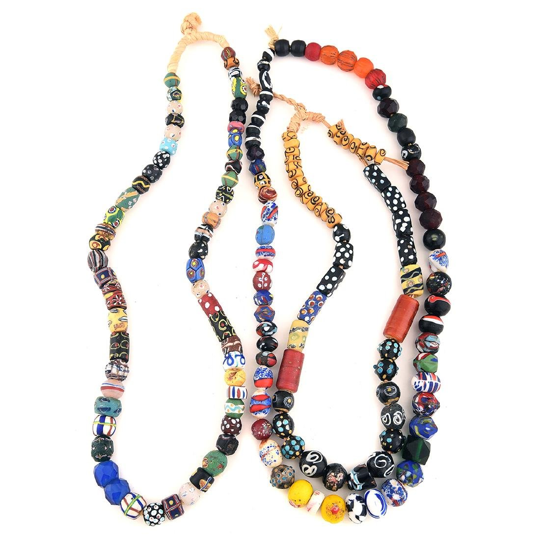 Collection of Three Strands of Venetian Glass Trade