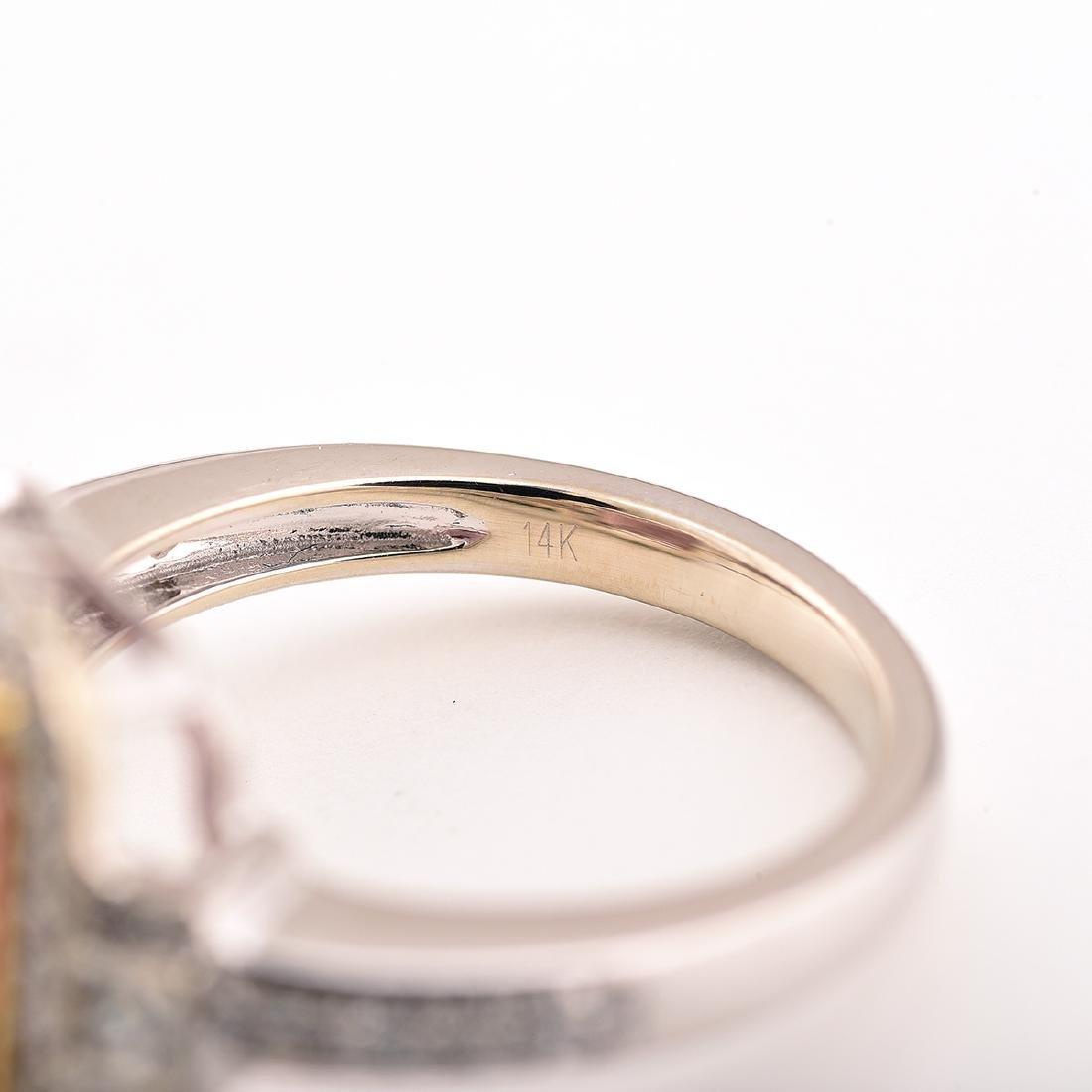 Tourmaline, Diamond, 14k Gold Ring. - 4