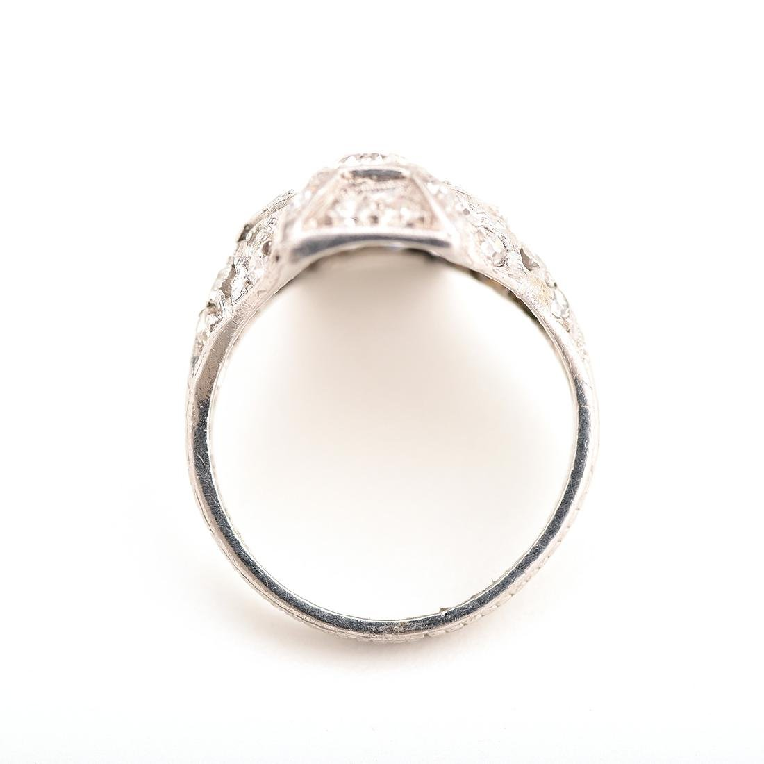 Diamond, Platinum Ring. - 3