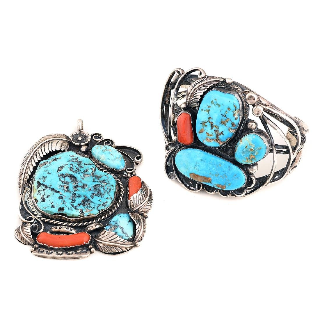*Native American Minnie Thomas Turquoise, Coral,
