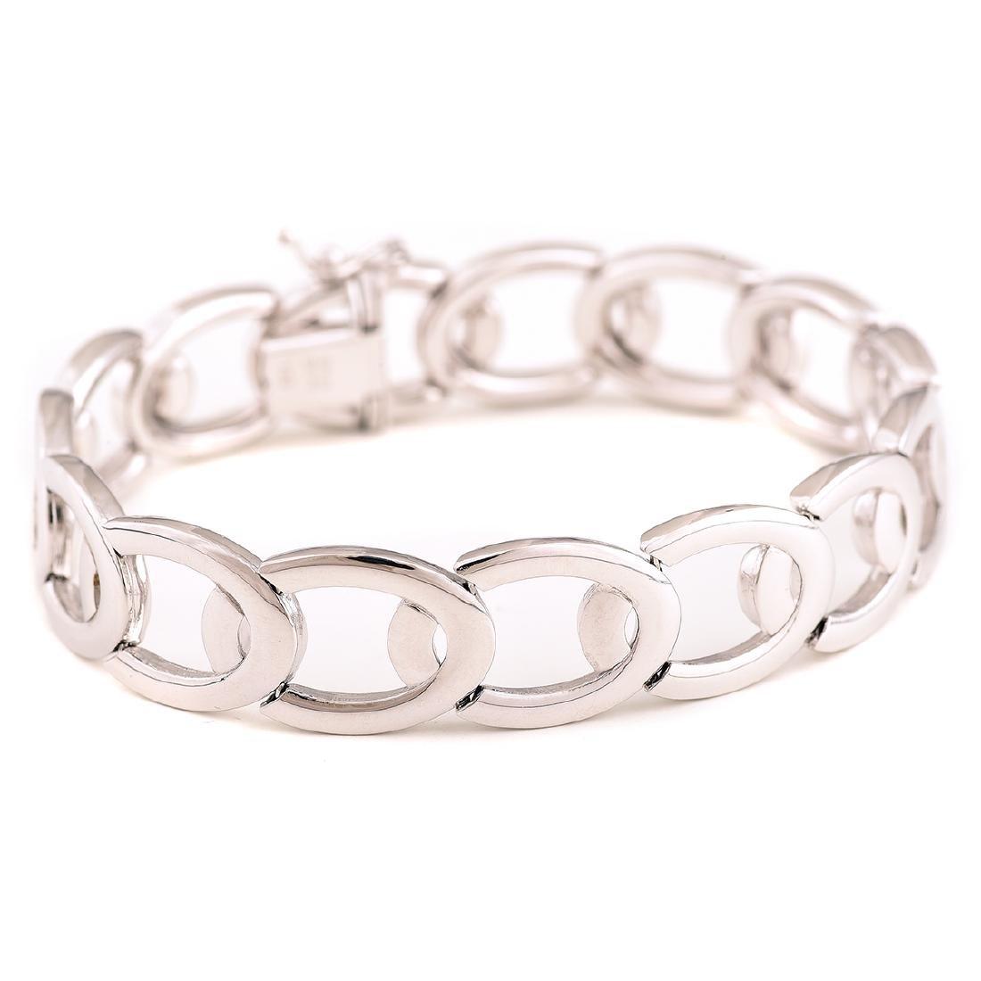 14k White Gold Bracelet.