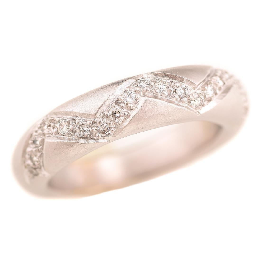 Diamond, 18k White Gold Ring.