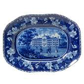 English Staffordshire Pottery Transfer Printed Platter