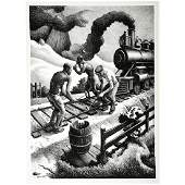 Thomas Hart Benton Ten Pound Hammer lithograph