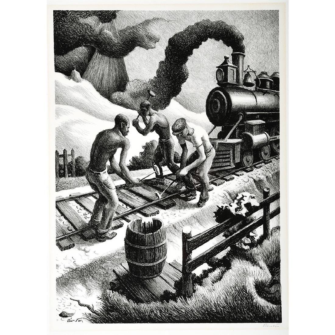 """Thomas Hart Benton """"Ten Pound Hammer"""" lithograph"""