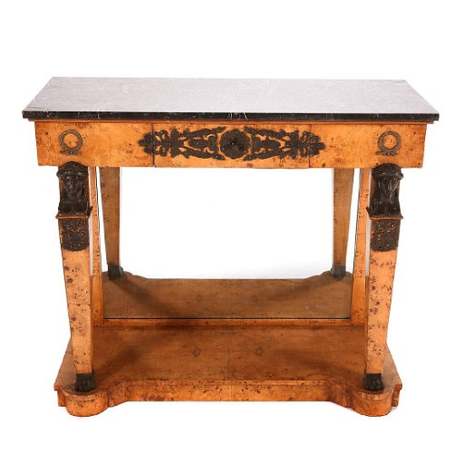 Excellent Empire Style Console Table With A Black Marble Top Ibusinesslaw Wood Chair Design Ideas Ibusinesslaworg