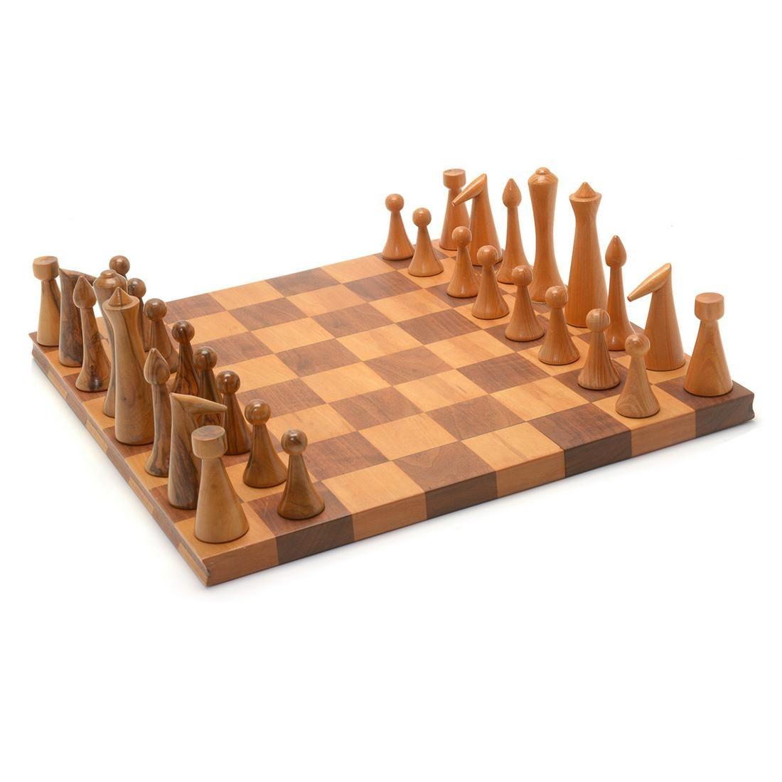 Mid-Century Modern Espenet Chess Set