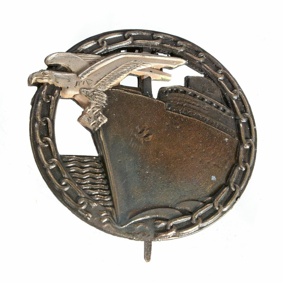 German World War II Navy Blockade Runners Badge.