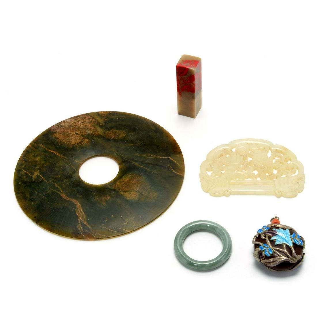 Group of Chinese Hardstone Accessories
