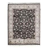 Persian Kashan Wool Rug.