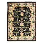 Indian Arts & Crafts Design Wool Carpet.
