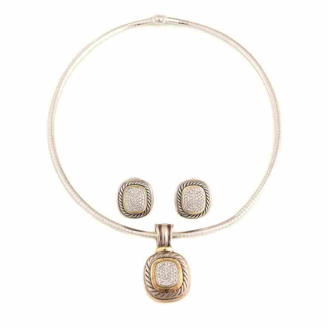 David Yurman Diamond, Sterling Silver, 14k Gold Jewelry