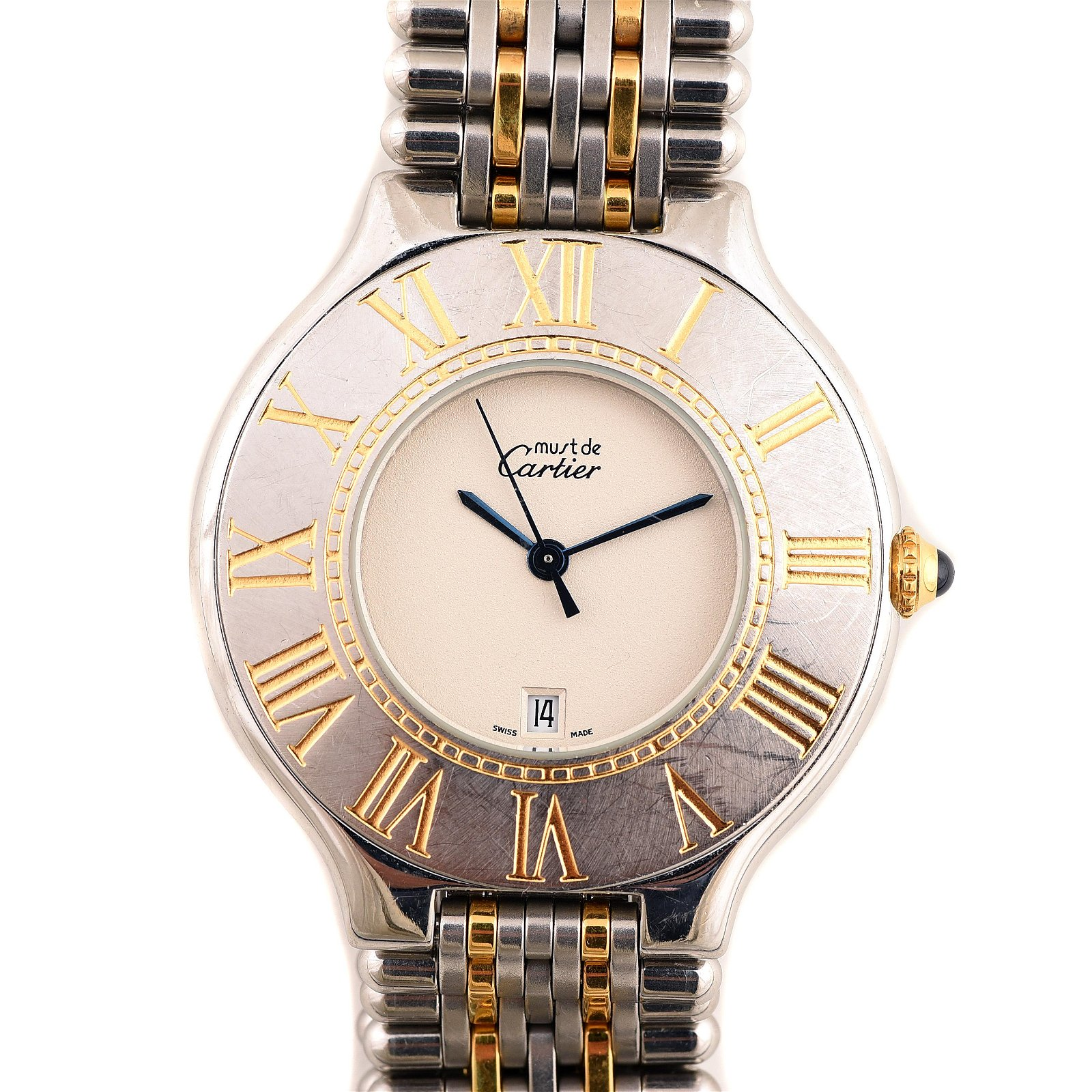 """Cartier """"Must De"""" Two-Tone 18k Yellow Gold, Stainless"""