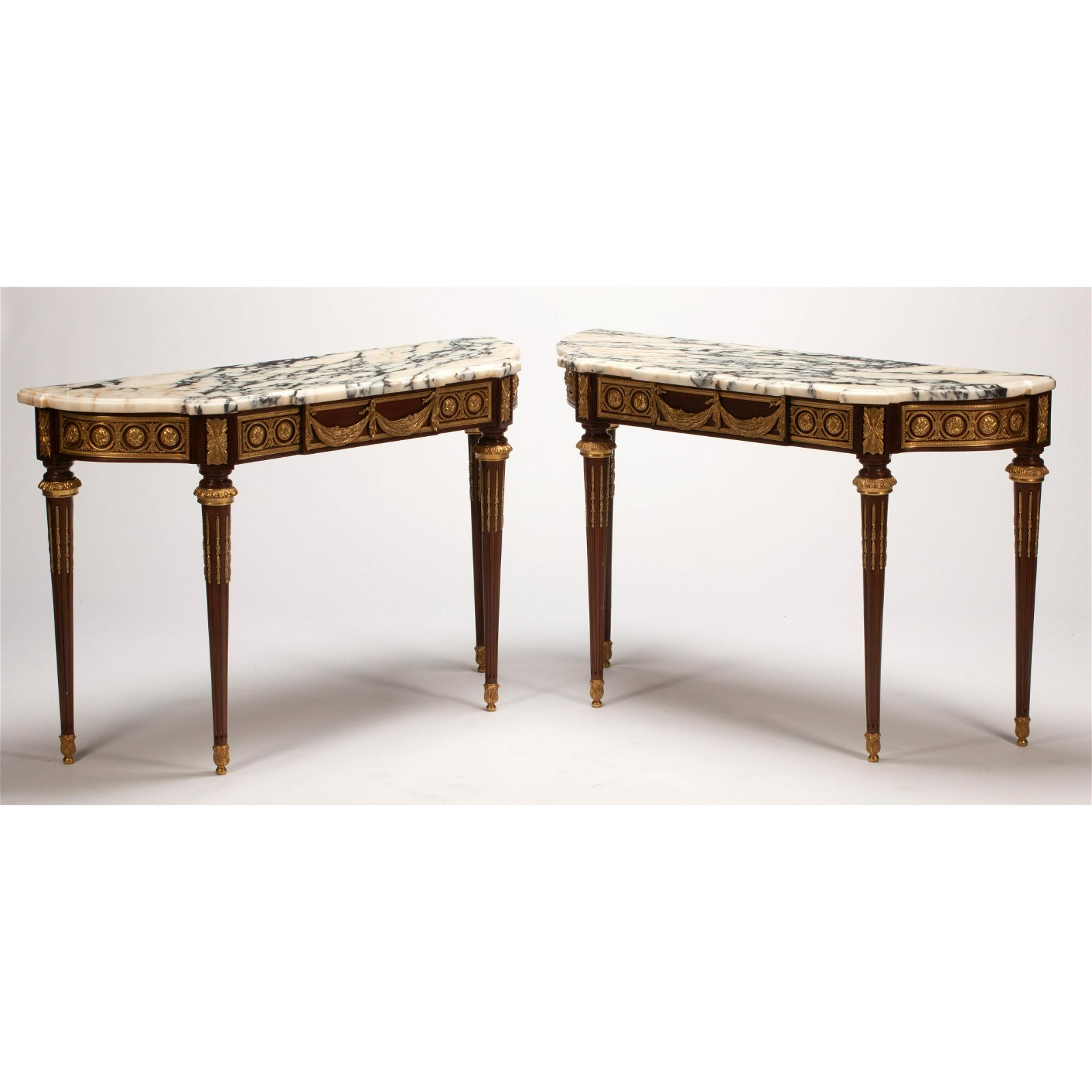 French Louis XV Style Dore Bronze Mounted Marble Top