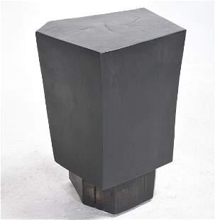 Manner of Achille Salvagni Ebonized Ash Polygonal
