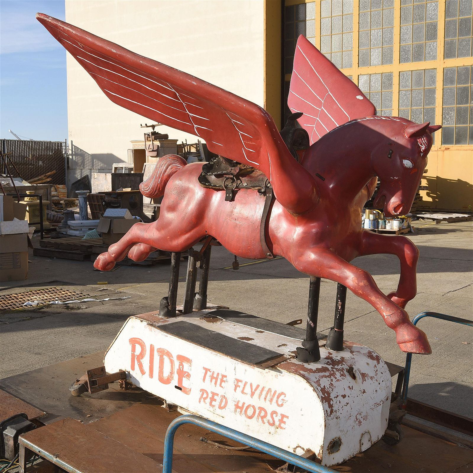 1950's Mobil Oil Coin-Operated Children's Pegasus Ride.