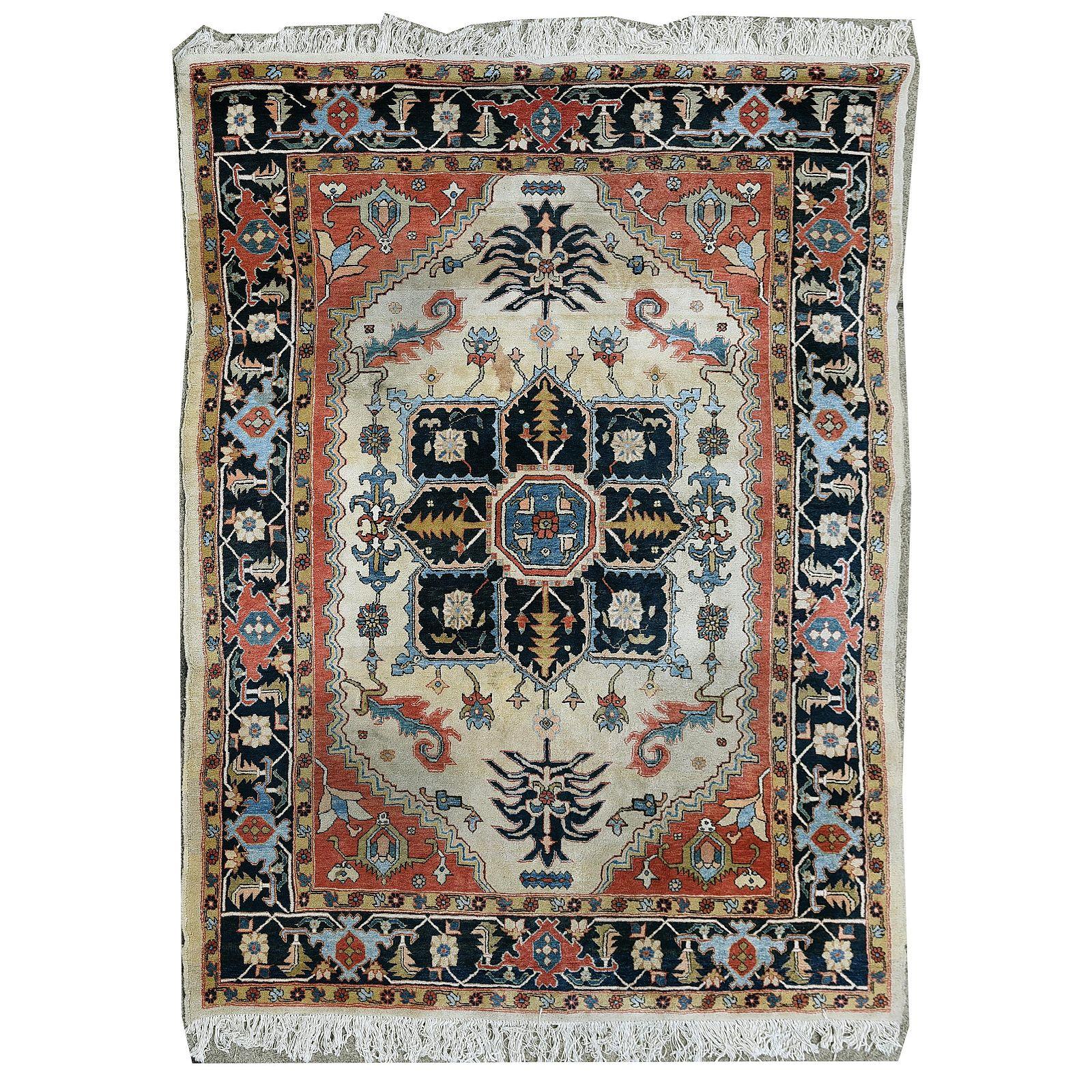 Persian Tabriz Style Wool Rug.