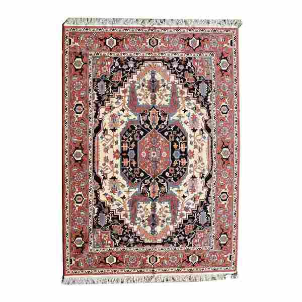Romanian Serapi Style Wool Carpet.