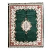 Indian Kerman Style Wool Carpet.