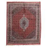 Indian Bidjar Style Wool Carpet.