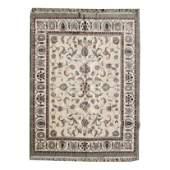 Indian Qom Style Wool Carpet.