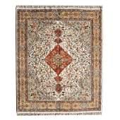 Indian Herati Style Wool Rug.