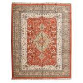 Indian Tabriz Style Wool Carpet.
