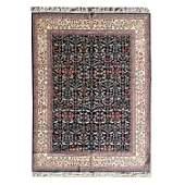 Romanian Tabriz Style Wool Rug.