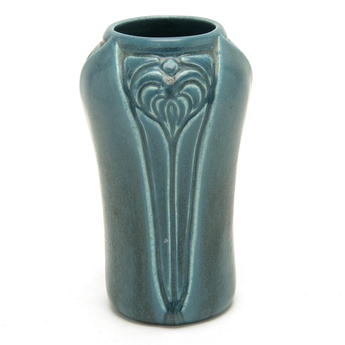 Rookwood Pottery Teal Blue Vase, 1928 2141.
