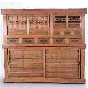 Japanese Pine Kitchen Tansu