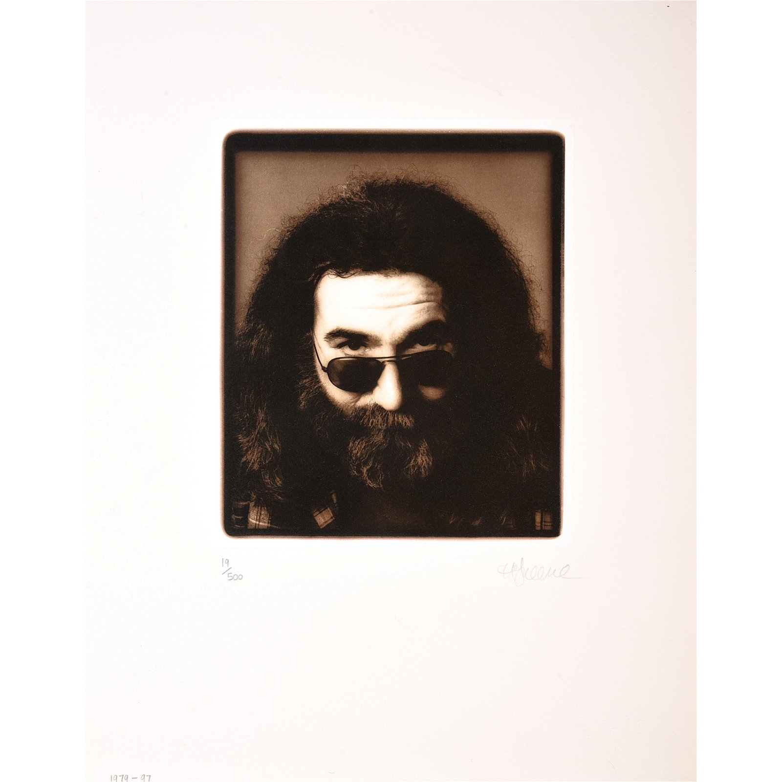 "Herb Greene ""Jerry Garcia"" collotype"