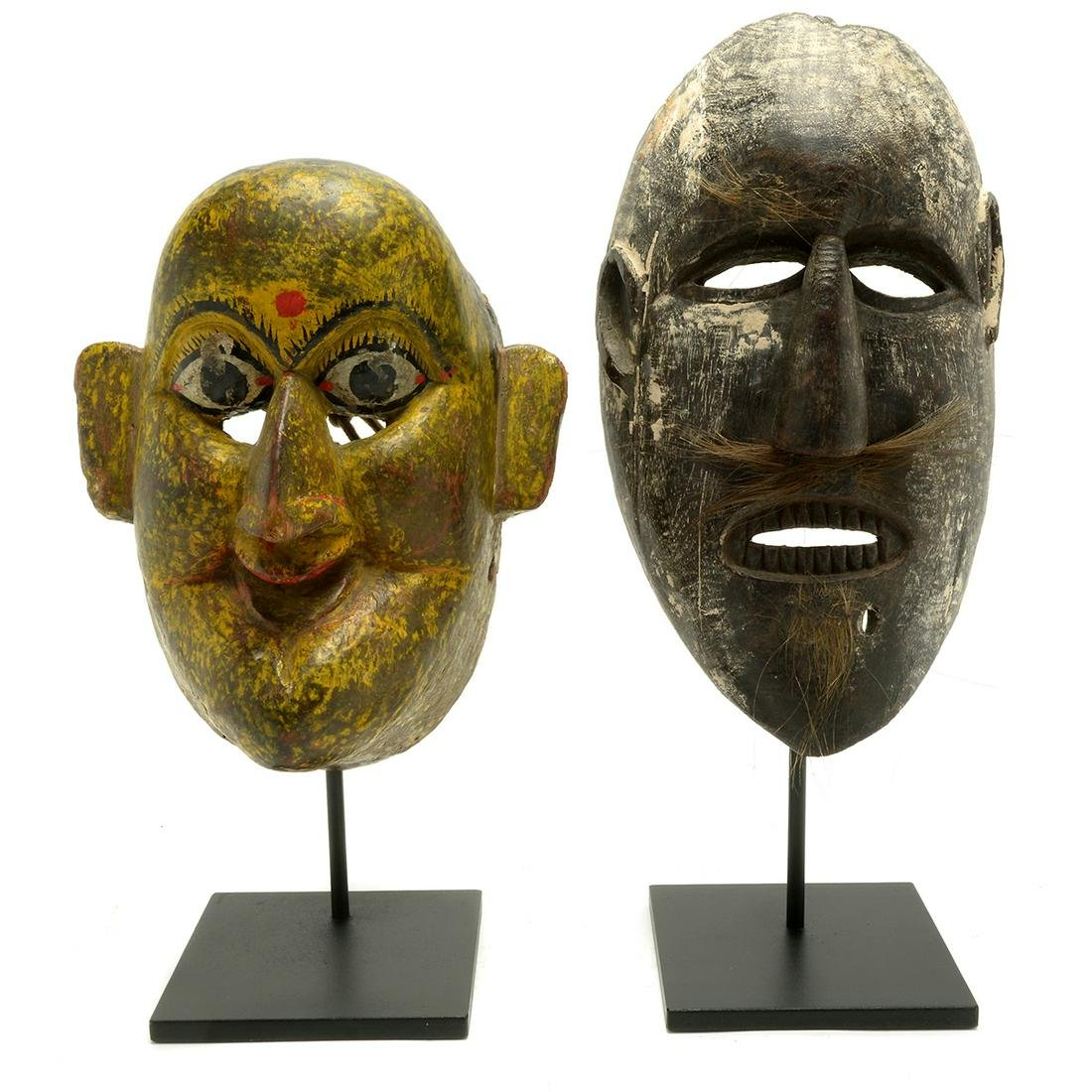 Two Nepalese Wood Masks
