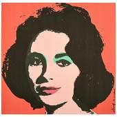 Andy Warhol Liz lithograph poster