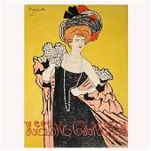 """Leonetto Cappiello """"Helene Chauvin"""" lithograph poster"""