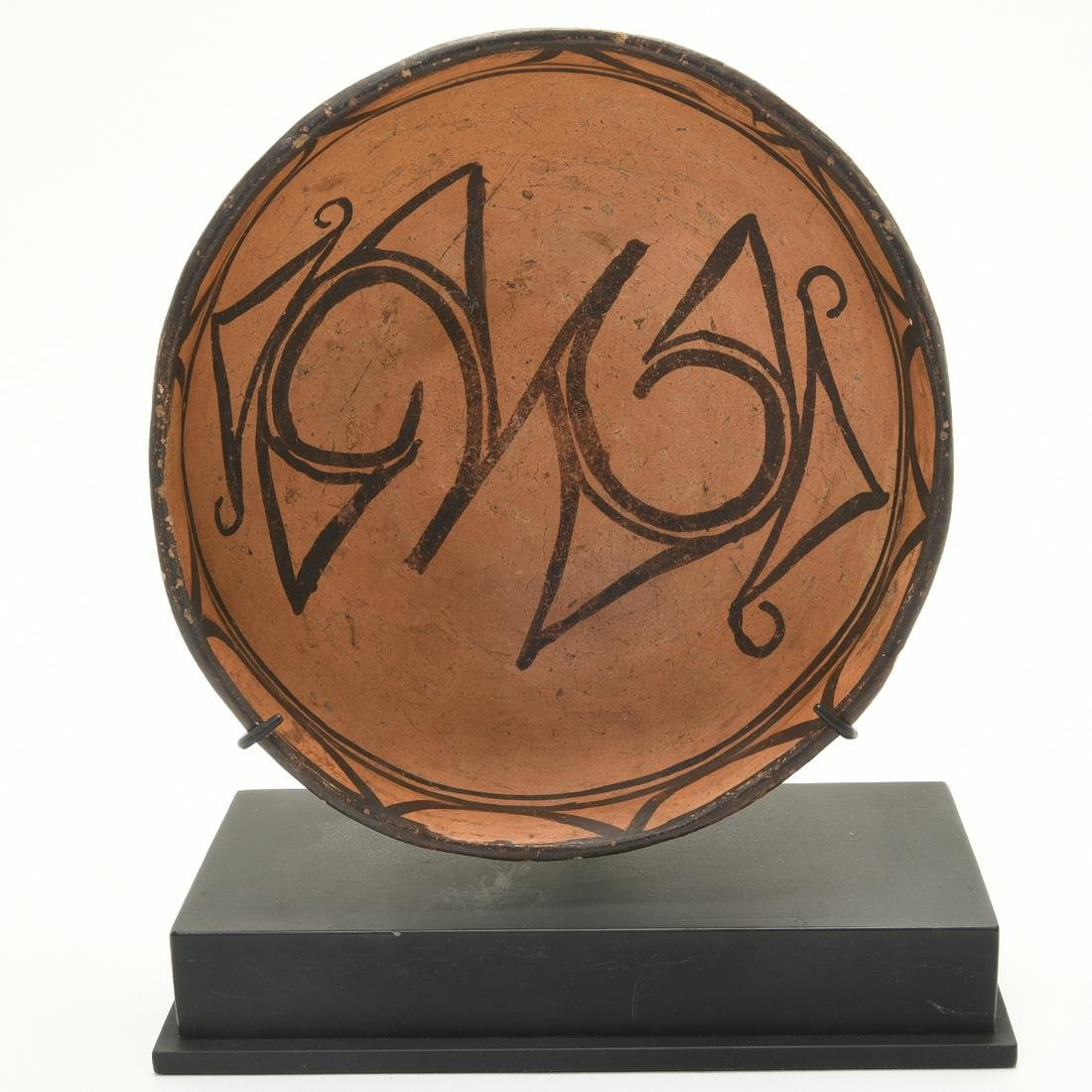 Late Anasazi Painted Ceramic Bowl.