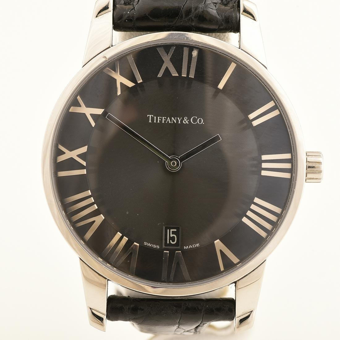 Tiffany & Co. Atlas Stainless Steel, Leather