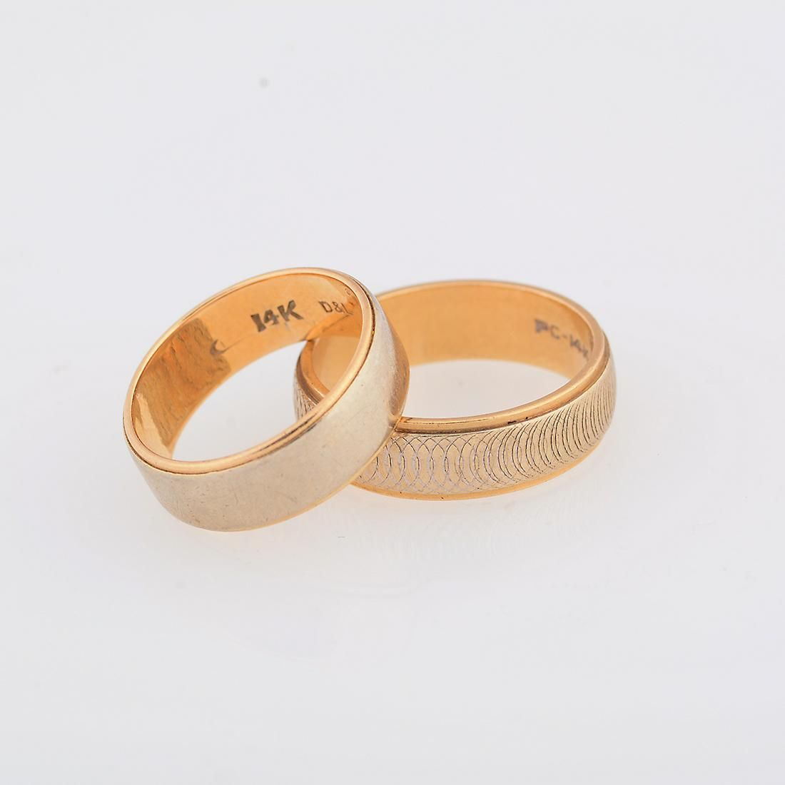 Collection of Two 14k Gold Bands.