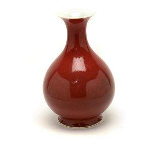 Copper Red Liangyao Yuhuchunping Vase.