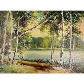 Follower of Franz Hans Johnston, Fairy Lake,