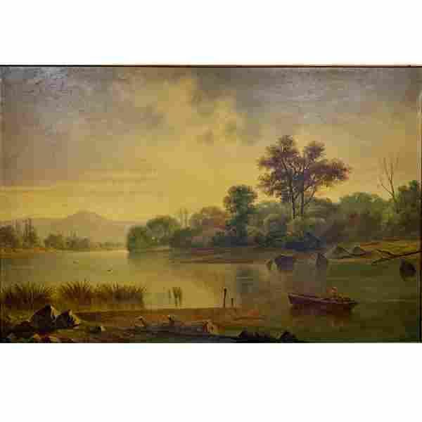Hudson River School, Lake George, oil on canvas