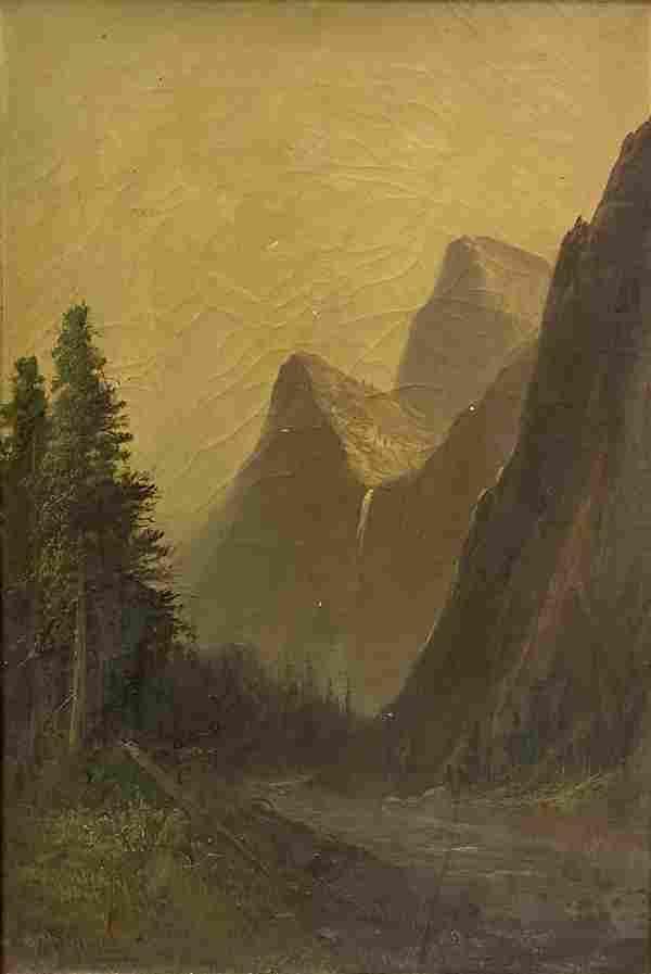 "Frederick Schafer ""Bridal Veil Fall Yosemite Valley"""