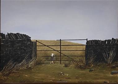 """Peter Brook """"September: A sheep on the wrong side of a"""