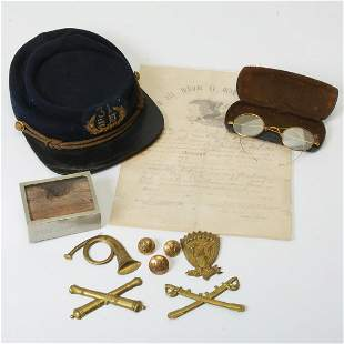 Civil War Union Soldier Hat With Pins, Discharge