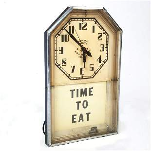 "Hammond and Neon Products Inc. ""Time To Eat"" Wall"