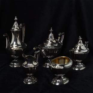 Mauser Sterling Silver Tea and Coffee Service.