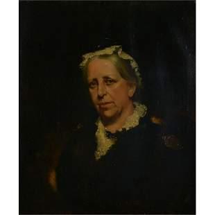 Henry Jones Thaddeus, Portrait of Queen Victoria, oil