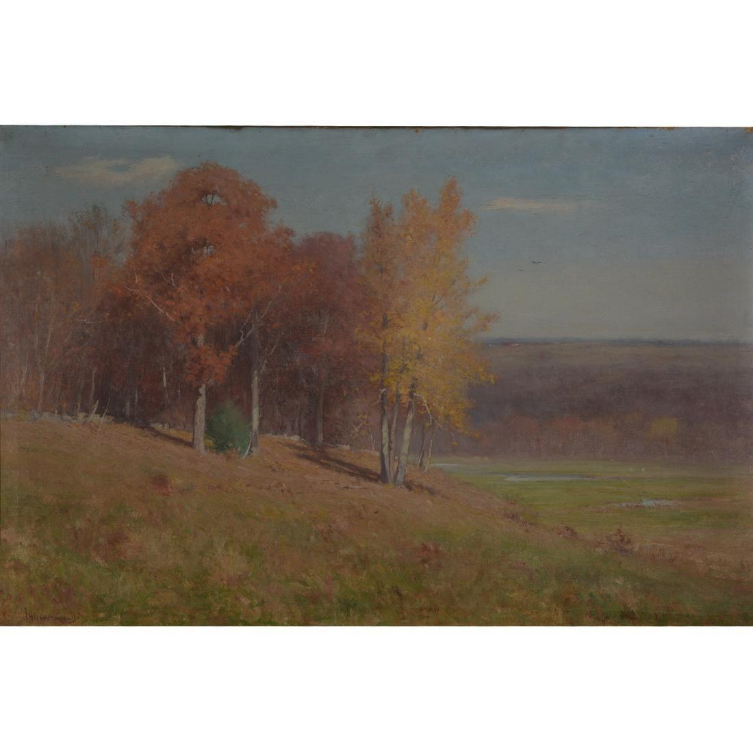 "Joseph H. Greenwood ""Autumn Landscape"" oil on canvas"
