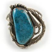 Native American Turquoise, Sterling Silver Cuff