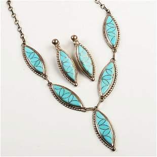 Native American Frank or Bessie Vacit Zuni Turquoise,