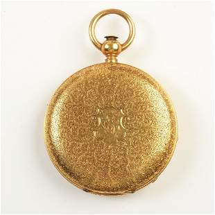 American Watch Co. 18k Yellow Gold Pocket Watch.